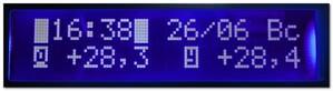 Двухканальный термометр и часы на ATmega8, DS18B20, DS1307