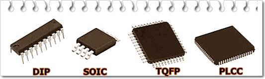 Корпуса микроконтроллеров AVR
