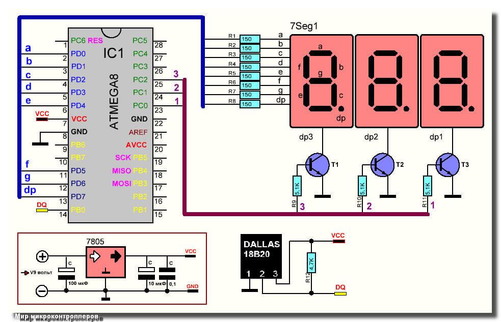 Термометр на микроконтроллере
