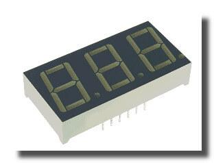 FYT-5631AUR-21, 3-х разрядный светодиодный индикатор (ОК)