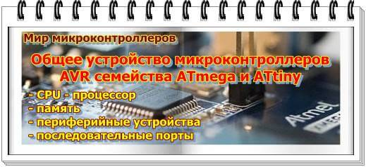 Общее устройство микроконтроллеров AVR