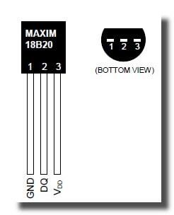 Выводы DS18B20