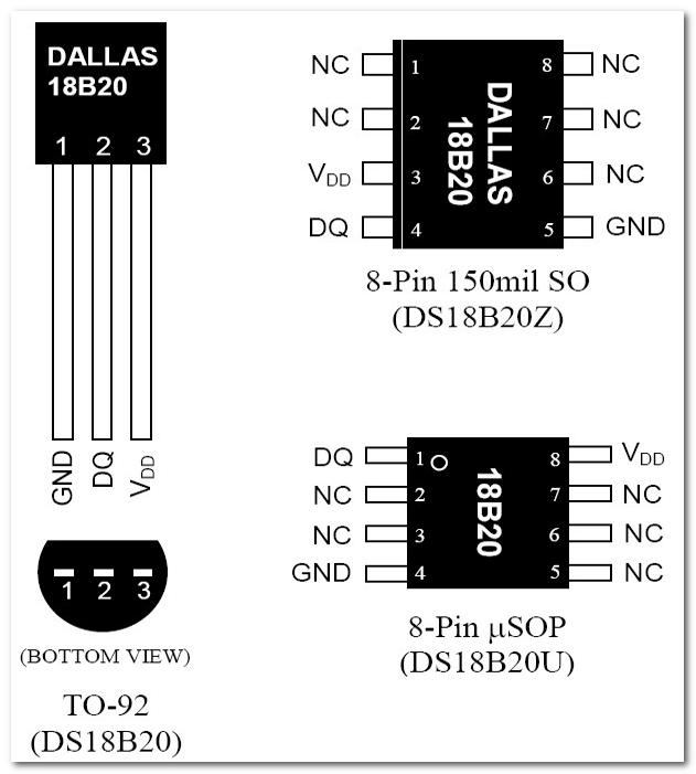Цифровой термометр DS18B20