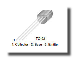 Выводы транзистора BC547C