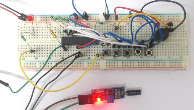 Сигнализация с датчиком наклона на микроконтроллере AVR ATmega8: внешний вид