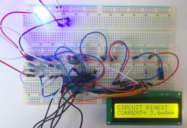Амперметр на 100 мА на микроконтроллере AVR ATmega8: внешний вид