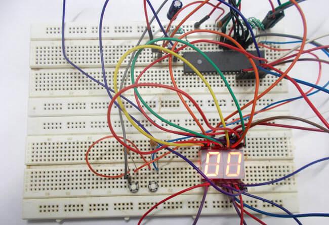 Счетчик 0-99 на микроконтроллере AVR ATmega32: внешний вид