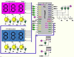 Двухканальный термостат на ATmega8