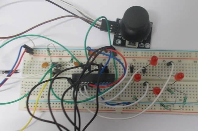 Подключение джойстика к микроконтроллеру AVR ATmega8: внешний вид