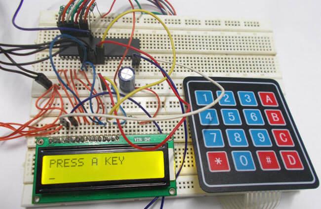 Подключение клавишной панели к ATmega32: внешний вид
