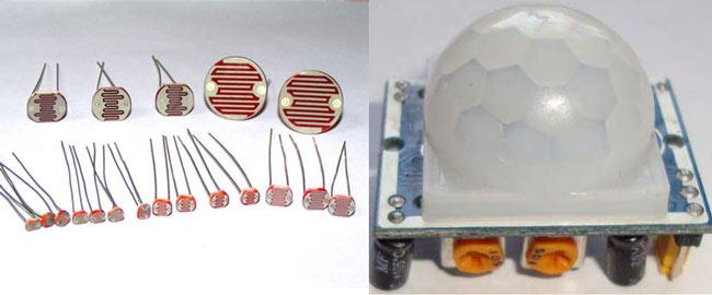 Фоторезисторы и детектор движения
