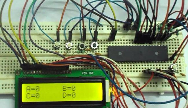 Машина для голосования на микроконтроллере AVR ATmega32: внешний вид