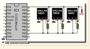 Подключение и программирование DS18B20