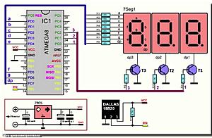 Простой термометр на ATmega8