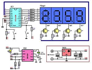 Простые часы на микроконтроллере