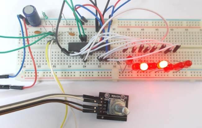 Подключение углового кодера к микроконтроллеру AVR ATmega8: внешний вид