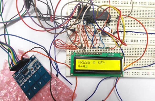 Подключение панели с сенсорными кнопками к микроконтроллеру AVR ATmega32: внешний вид