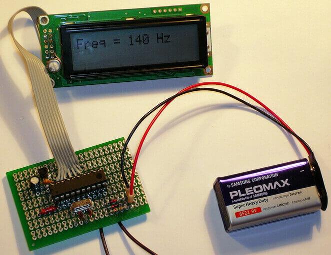 Внешний вид частотомера на микроконтроллере ATtiny2313