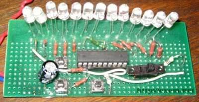 Внешний вид гирлянды на микроконтроллере AVR
