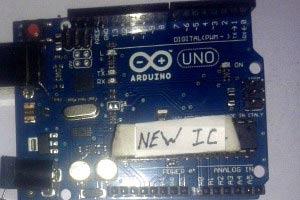 Вставка в плату Arduino вашего микроконтроллера AVR