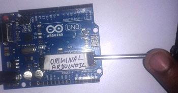 Удаление оригинального микроконтроллера AVR с платы Arduino