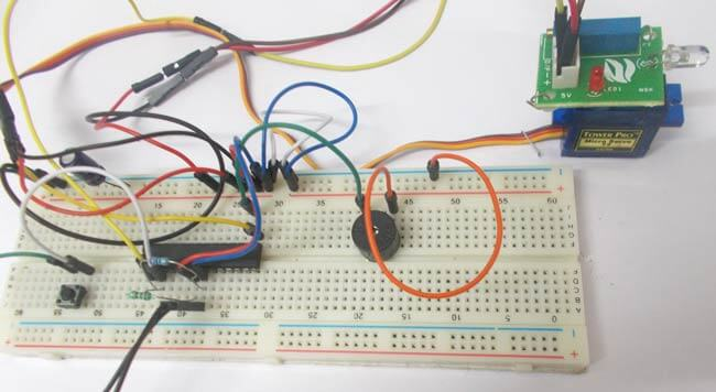 Пожарная сигнализация на микроконтроллере AVR ATmega8: внешний вид