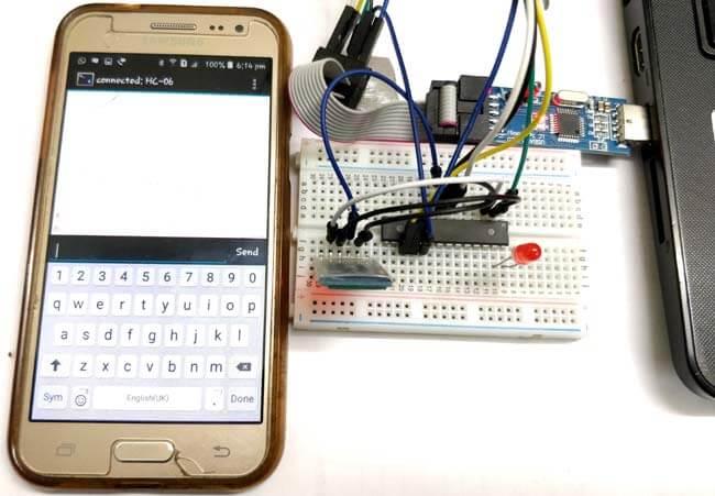 Подключение Bluetooth-модуля HC-05 к микроконтроллеру AVR ATmega8: внешний вид