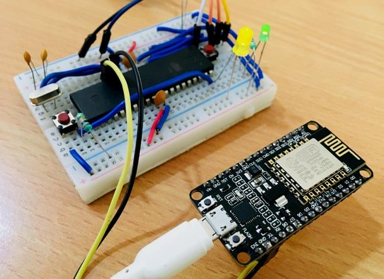 Подключение ESP8266 к микроконтроллеру AVR ATmega16: внешний вид