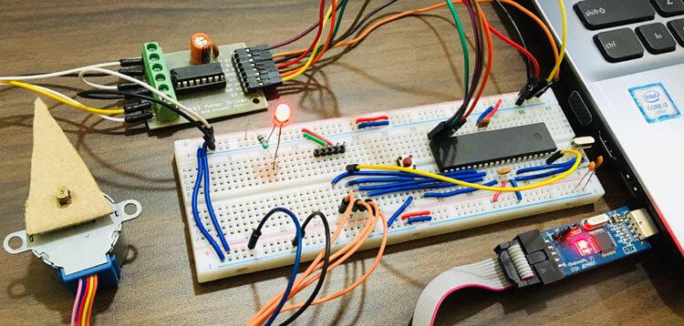 Подключение шагового двигателя к микроконтроллеру AVR ATmega16: внешний вид конструкции