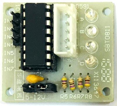 Внешний вид драйвера мотора ULN2003