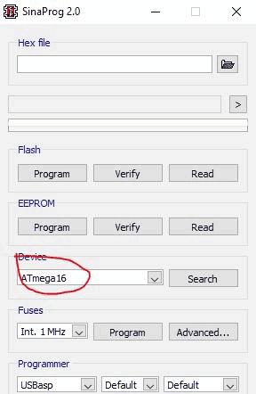 Загрузка программы в микроконтроллер с использованием SinaProg