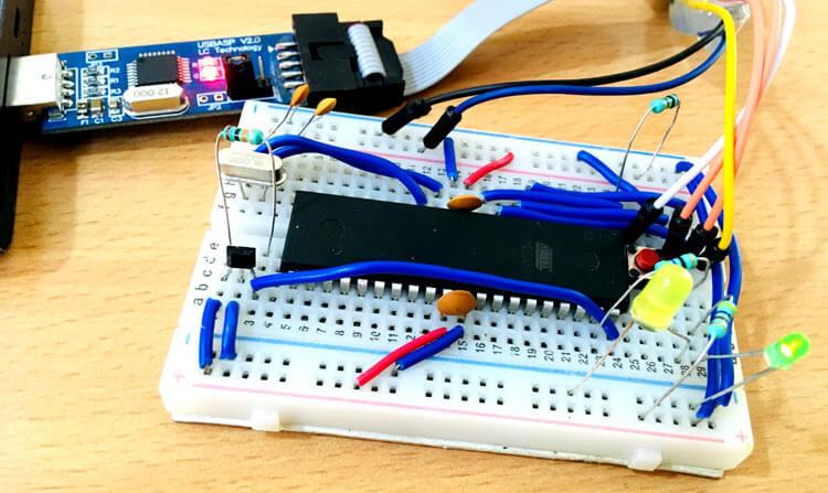Подключение датчика Холла к микроконтроллеру AVR ATmega16: внешний вид конструкции