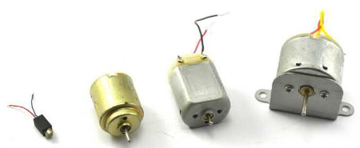 Внешний вид двигателей постоянного тока