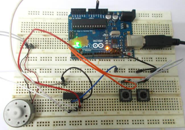 Управление двигателем постоянного тока с помощью Arduino Uno: внешний вид конструкции