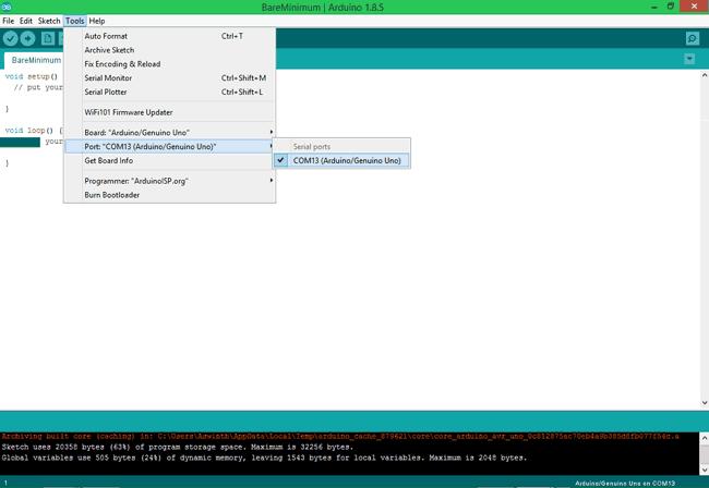 Проверка того, видит ли Arduino IDE вашу плату Arduino