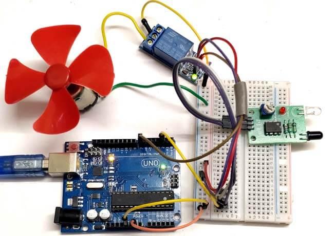 Управление двигателем постоянного тока с помощью Arduino и инфракрасного датчика: внешний вид