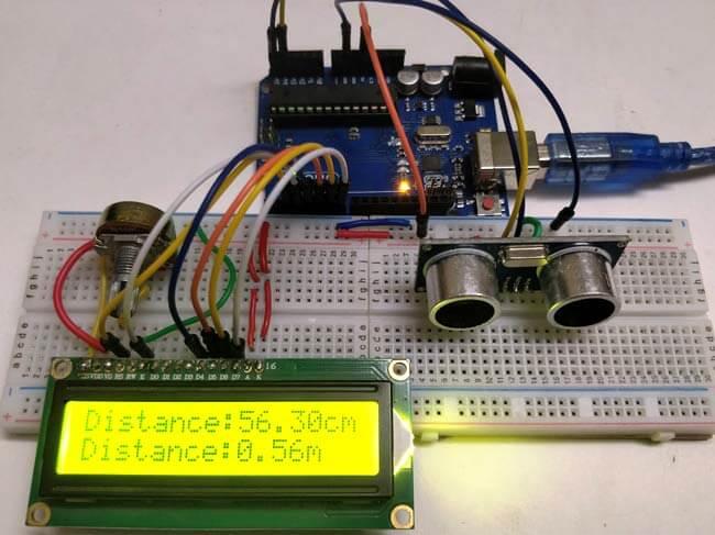 Измерение расстояний с помощью Arduino и ультразвукового датчика: внешний вид