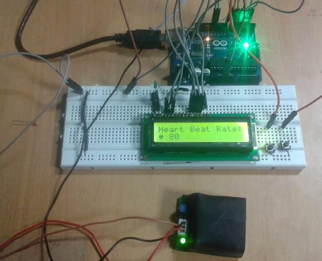 Монитор сердечного ритма (пульса) на Arduino: внешний вид конструкции