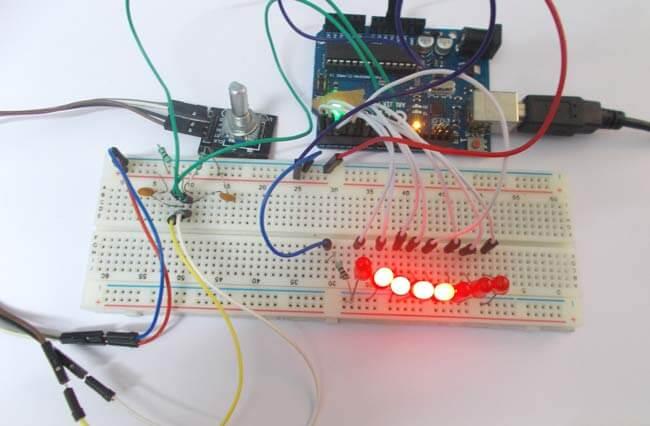 Подключение углового кодера к Arduino Uno: внешний вид конструкции