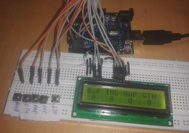 Устройство для голосования на Arduino Uno: внешний вид конструкции
