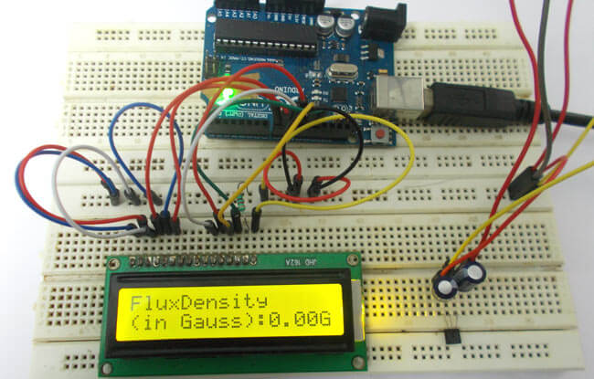 Измерение напряженности магнитного поля с помощью Arduino: внешний вид конструкции