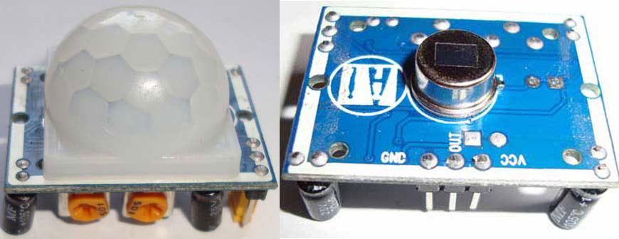 Внешний вид инфракрасного детектора движения