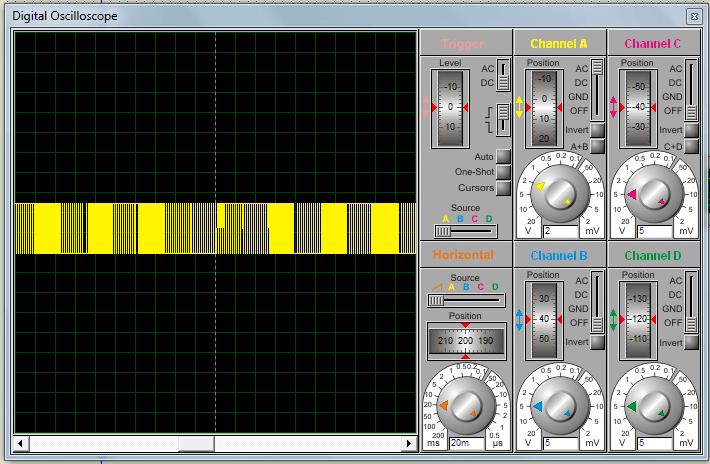 Пример ШИМ модуляции на осциллографе