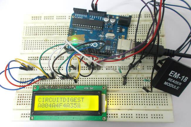 Чтение радиочастотных меток с помощью Arduino Uno: внешний вид