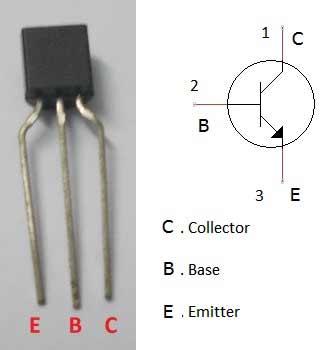 Внешний вид NPN транзистора 2N3904