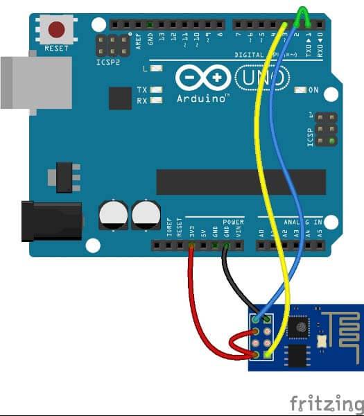 Подача питания на Wi-Fi модуль ESP8266 с платы Arduino