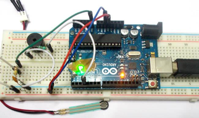 Подключение датчика силы (усилия) к Arduino: внешний вид конструкции