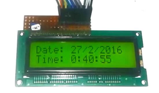 Внешний вид экрана GPS часов на Arduino Uno