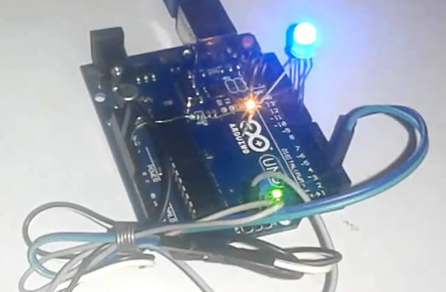 Управление трехцветным светодиодом по Wi-Fi с помощью Arduino Uno: внешний вид