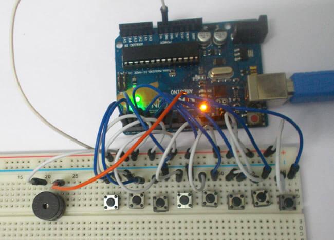 Внешний вид тонового генератора на Arduino Uno